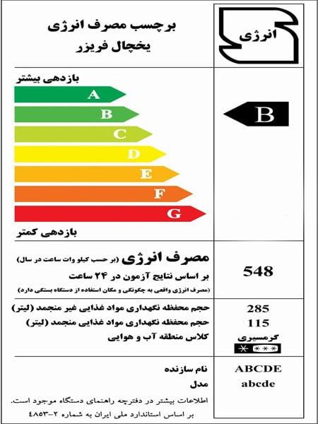 33 - برچسب انرژی در یخچال