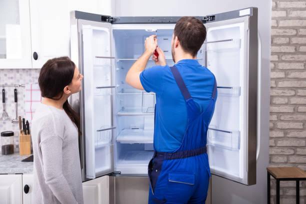 خاموش نشدن لامپ یخچال فریزر و آموزش تعمیر ساید بای ساید آاگ در نمایندگی